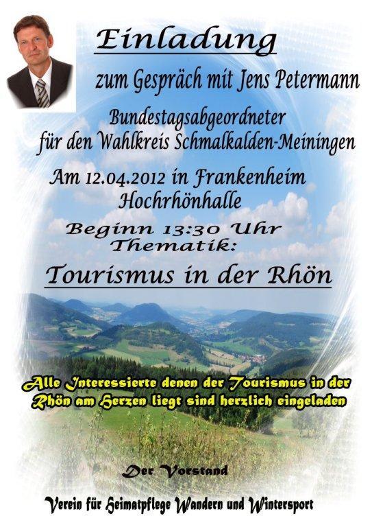 Bundestagsabgeordneter Jens Petermann (Die LINKE) kommt nach Frankenheim