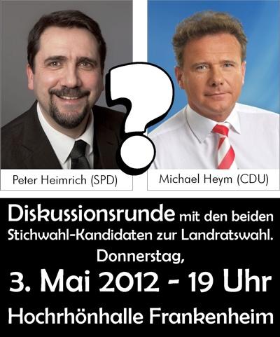 Der neue Landrat kommt am 3. Mai 2012 (19 Uhr) nach Frankenheim!