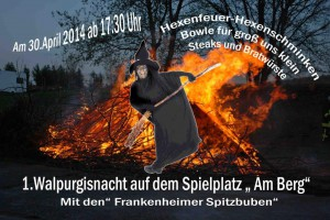 Walpurgisnacht mit Hexenfeuer am 30. April 2014