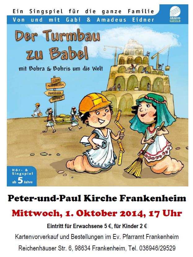 Ankündigungen: Singspiel mit Gabi und Amadeus Eidner (Holzwürmer) und Tag der Deutschen Einheit