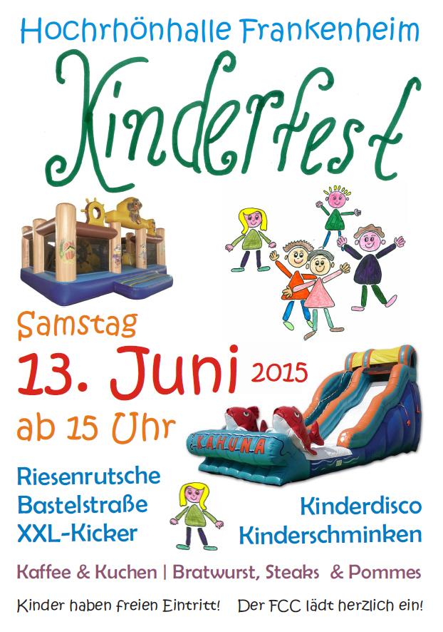 Kinderfest des Karnevalsvereins am 13. Juni 2015