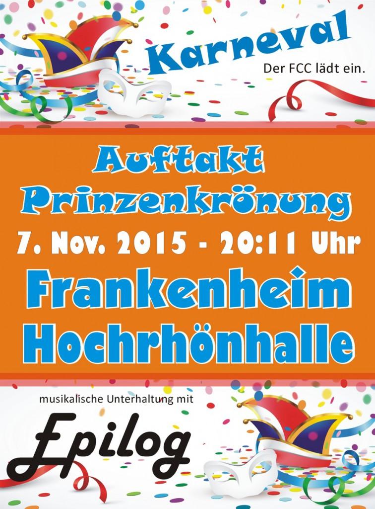 Karnevalsauftakt und Prinzenkrönung am 7. November