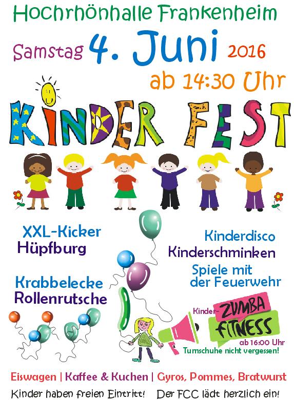 Kinderfest des Karnevalsvereins am 4. Juni 2016