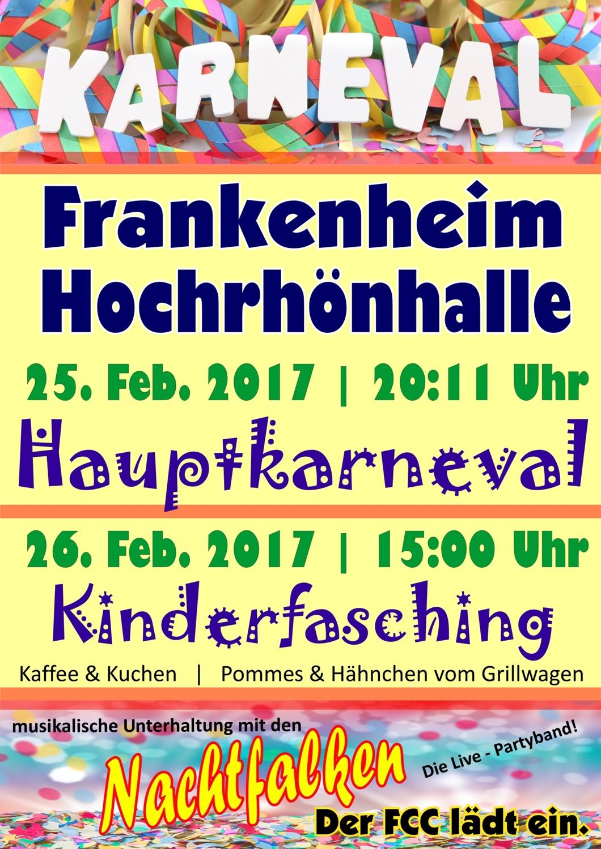 Karneval in Frankenheim am 25. & 26.2.2017