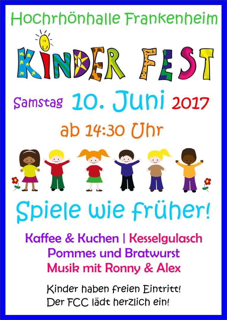 Kinderfest am 10. Juni 2017 in der Hochrhönhalle