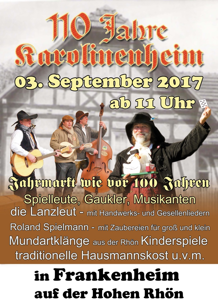 110 Jahre Karolinenheim – 3. September 2017