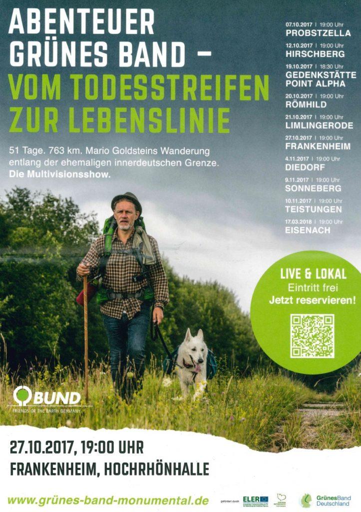 Abenteuer grünes Band – Multivisionsshow am 27.10.17 in der Hochrhönhalle Frankenheim – Eintritt frei