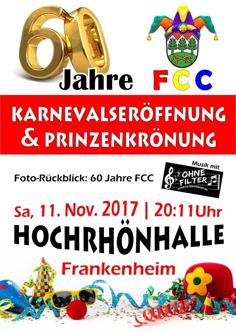 Karnevalsauftakt und Prinzenkrönung am Samstag, dem 11.11.2017