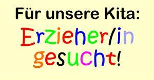 Stellenausschreibung – Erzieher/in für die Kindertageseinrichtung (Kindergarten) in Frankenheim (Rhön) gesucht