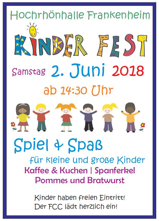 Kinderfest in der Hochrhönhalle am 2. Juni 2018