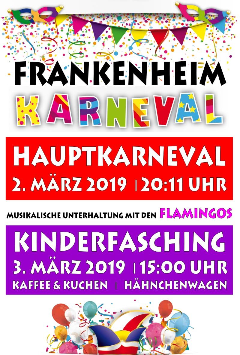 Hauptkarneval & Kinderfasching am 2. und 3. März 2019