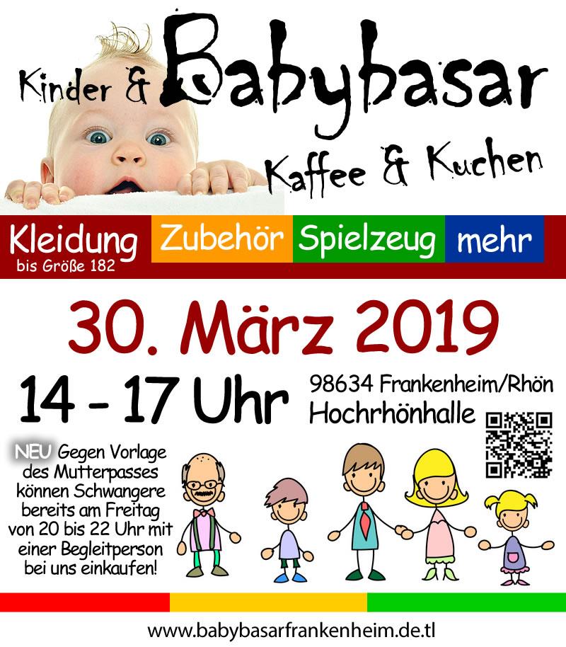 Babybasar am 30.03.2019 in Frankenheim