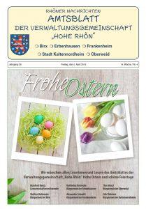 Amtsblatt der VGem Hohe Rhön April 2019