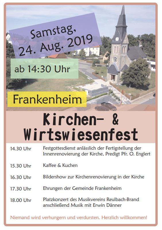 Kirchen- und Wirtswiesenfest am 24. August 2019 in Frankenheim