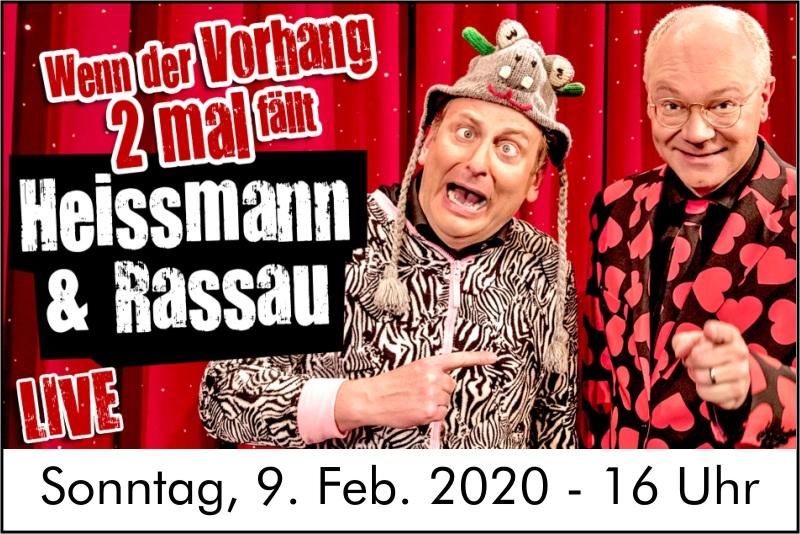 Heißmann und Rassau – die fränkischen Kult-Komödianten kommen nach Frankenheim – Sonntag, 9.2.2020, 16 Uhr