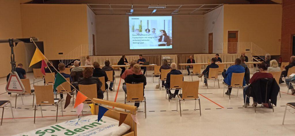 Nachbetrachtung zur Einwohnerversammlung und Bitte zur Teilnahme an unserer Umfrage zum geplanten Gesundheitszentrum