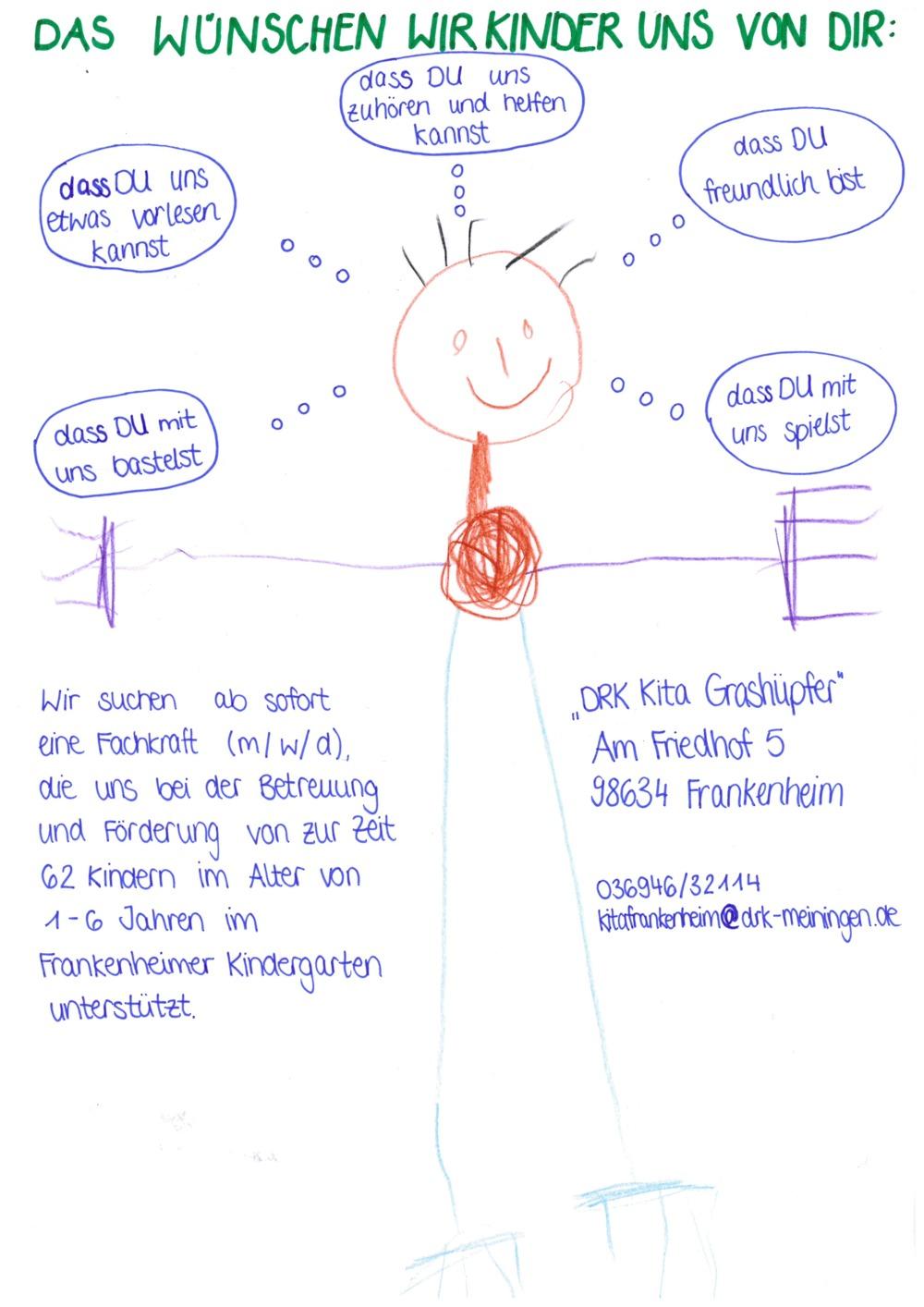 Erzieher (m/w/d) für Kindergarten Frankenheim gesucht