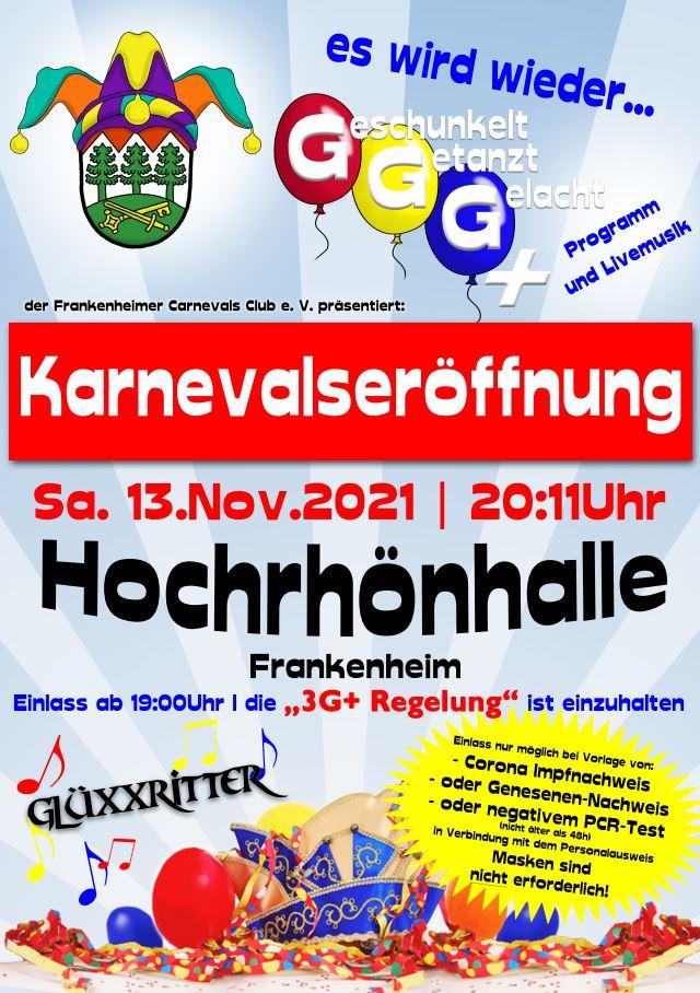 Karnevalsauftakt in Frankenheim am 13. November 2021